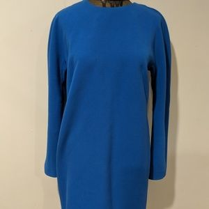 Ann Taylor Blue Long Sleeve Dress  Size 6